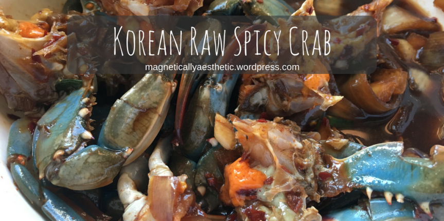 Korean Raw Spicy Crab