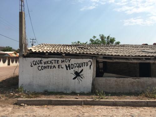 Contra el mosquito sign.JPG