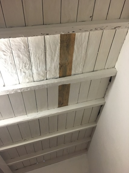 Which piece of wood does not belong? This was completely missing earlier today! They just replaced it today.