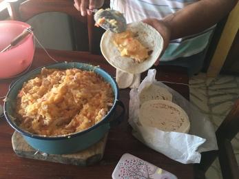 Preparing tacos dorados2